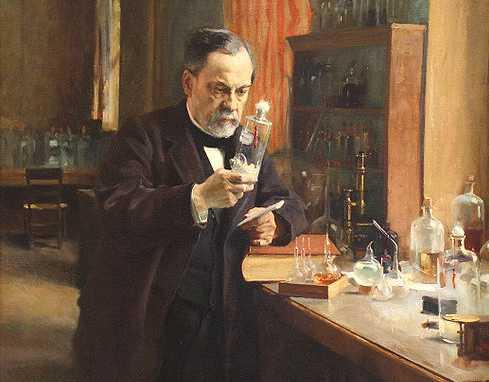 Louis Pasteur in his laboratory, Albert Edelfelt, 1885; Musée d'Orsay, Paris