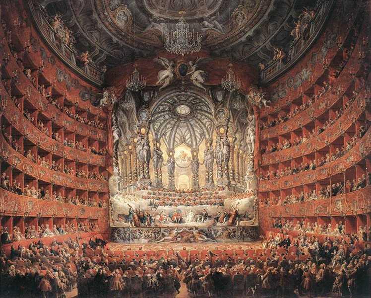 The Arts - Musical fête, Giovanni Paolo Pannini, 1747; Musée du Louvre, Paris.