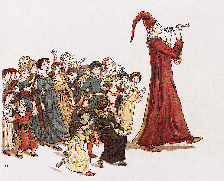 2. Literature. Image: An illustration from The Pied Piper of Hamelin by Robert Browning; Illustrator: Kate Greenaway, 1888; Courtesy of the Library of Congress.