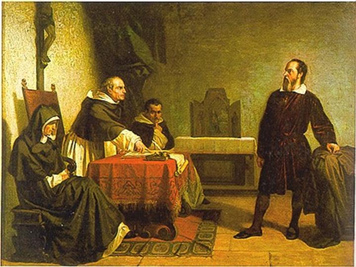 foundations of Knowledge - Galileo Galilei facing the Roman Inquisition (Cristiano Banti, 1857).