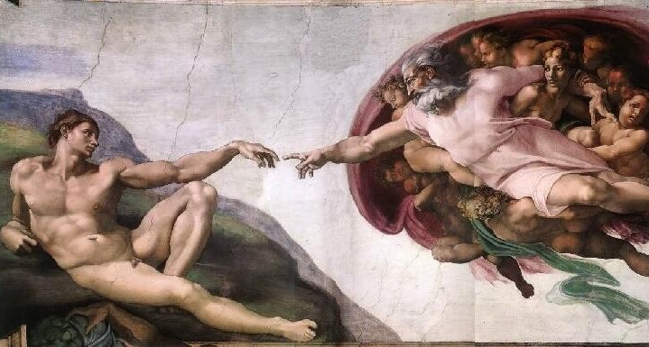 Supernatural - God creates man (Michelangelo, Ceiling of Sistine Chapel)