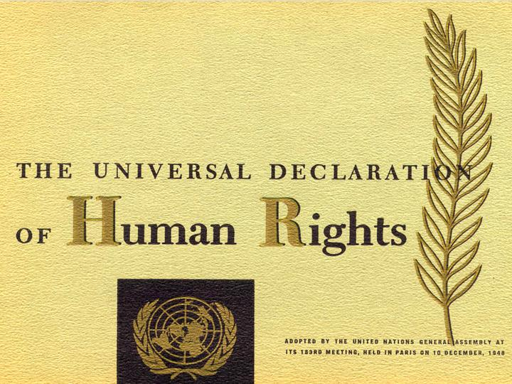 Human Society - The Universal Declaration of Human Rights, December 10, 1948 (United Nations, 1949).