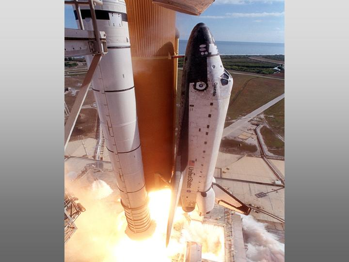Technology - Space Shuttle Columbia as it lifts off from Launch Pad 39A on mission STS-107 (NASA, 2003).