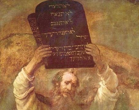 משה עם לוחות הברית, רמברנדט