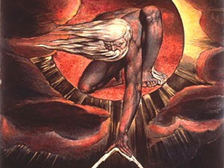 1. Theory. Fields: Religious Studies (including Philosophy of Religion, Sociology of Religion). Image: The Ancient of Days (detail); a painting by William Blake, 1824.