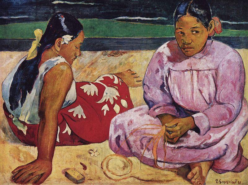 Tahitian Women on the Beach, Paul Gauguin, 1891; Musée d'Orsay, Paris.