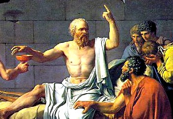 1.1 Reason (Theory). Fields: Philosophy. Image: The Death of Socrates (details), by Jacques-Louis David, 1787 (Metropolitan Museum of Art, New York).