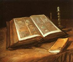 Religious studies: Still life with bible, Van Gogh, 1885, Van Gogh Museum, Amsterdam