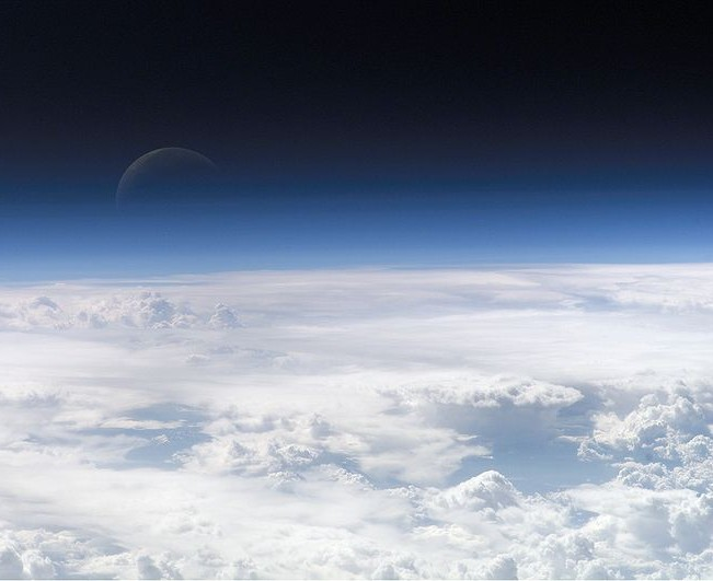 3.4 Modern. Exemplary fields: Cao Dai, New Age, Scientology... Image: The top layers of the earth's atmosphere leading to space (Source: NASA).
