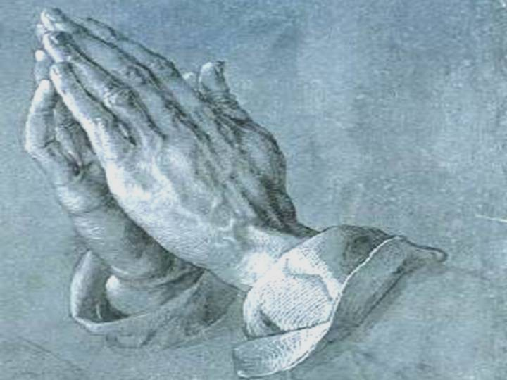 3. Religions (world religions). Image: Study of an Apostle's Hands (Praying Hands), 1508 by Albrecht DÜRER