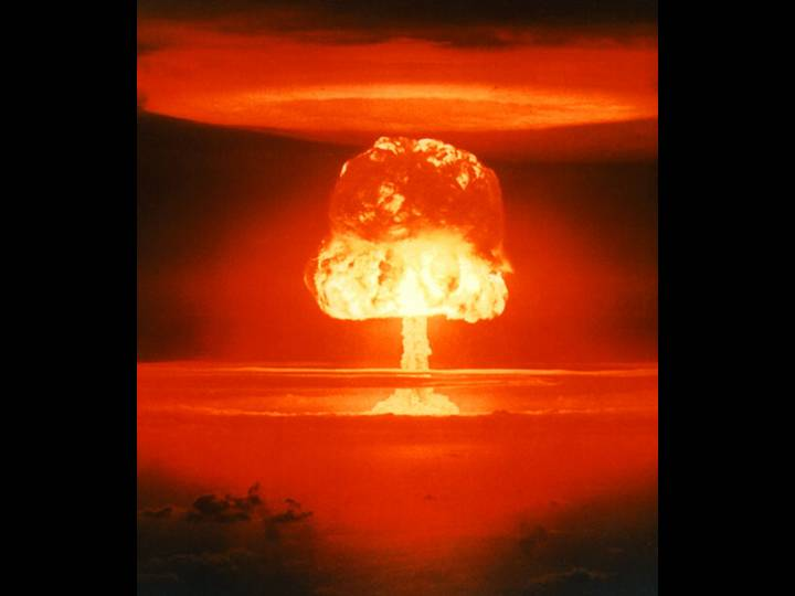 1. Theory. Fields: Philosophy of Technology. Image: Atomic bomb mushroom. Operation Castle, ROMEO Event - The 11-megaton ROMEO Event was part of Operation Castle. It was detonated from a barge near Bikini atoll on 26 March 1954. Source: DOE/NNSA.
